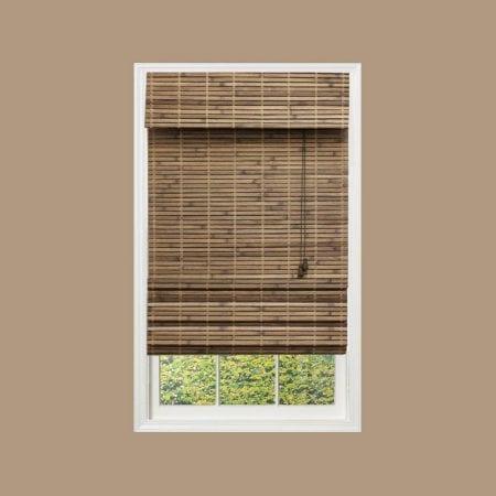 Farmhouse Bedroom 06 Bamboo Roman Shade