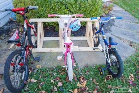 Homemade Bike Rack DIY From Www.heatherednest.com 41