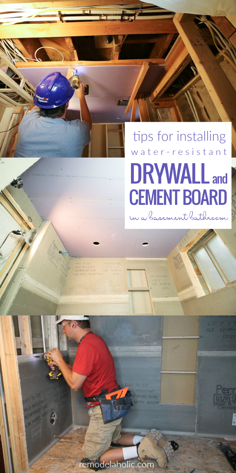 Water Resistant Drywall : Remodelaholic basement bathroom drywall and cement board