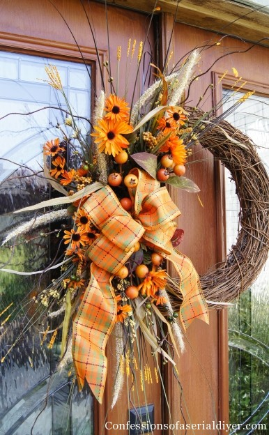 Wreath for autumn Confessions Of A Serial Diyer