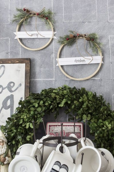 AKA Design Merry Christmas Embroidery Hoop Wreaths BLOG PIC