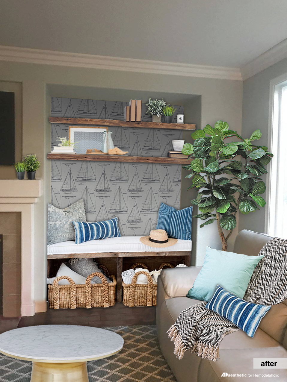 Many homes have those potentially awkward alcoves that are tricky to decorate. Try these creative nook decorating ideas plus tips for a nautical nook.