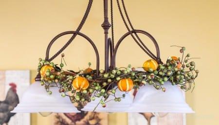 Citrus Ornaments On Garland