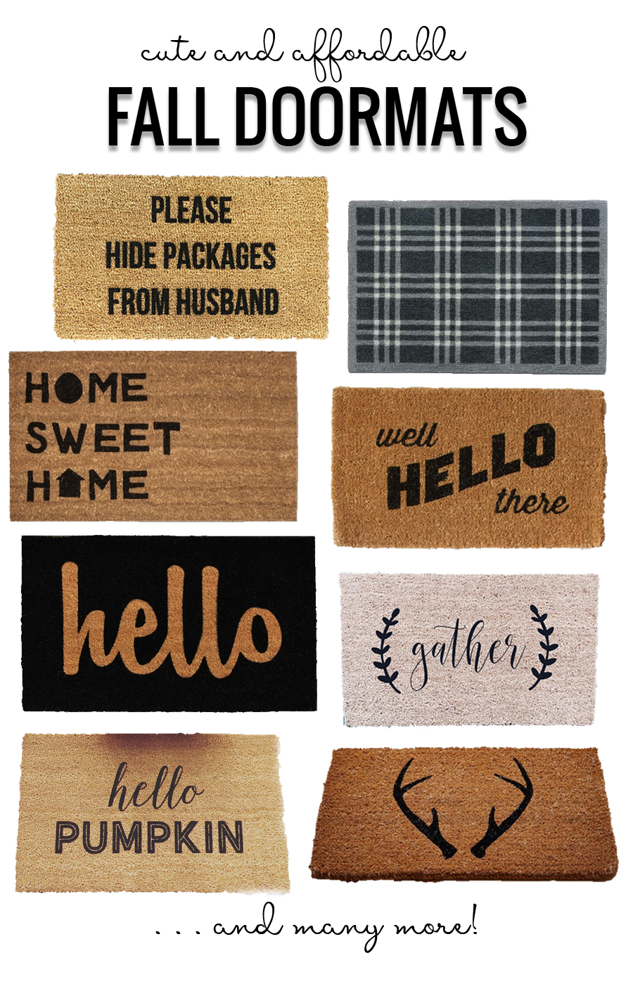Cute And Affordable Fall Doormats Options featured on Remodelaholic.com