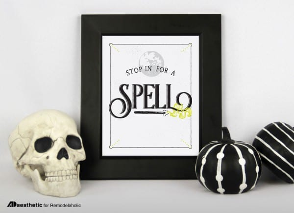 Stop In For a Spell Halloween Printable Decor Wall Art