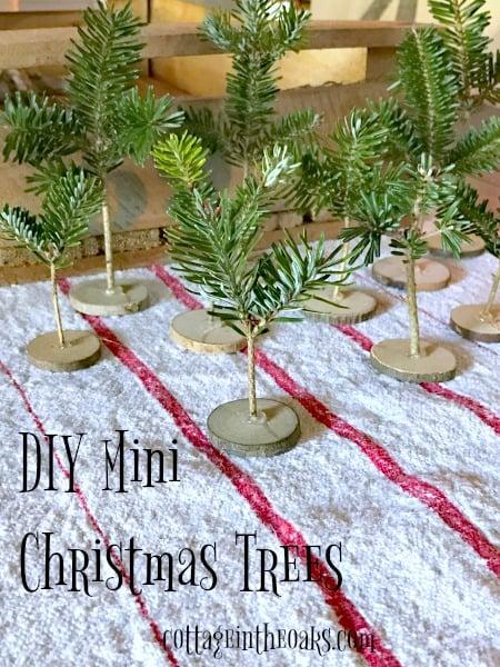 How To Make DIY Tiny Christmas Trees