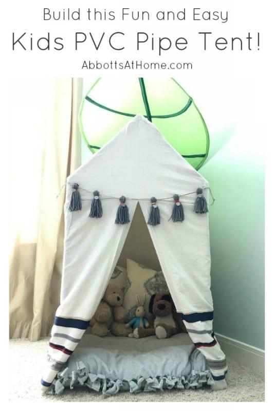 Kids PVC Tent Build Plan Pinterest B