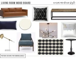 1 Room Styled 3 Ways: Modern Living Room by Postbox Designs Interior E-Design