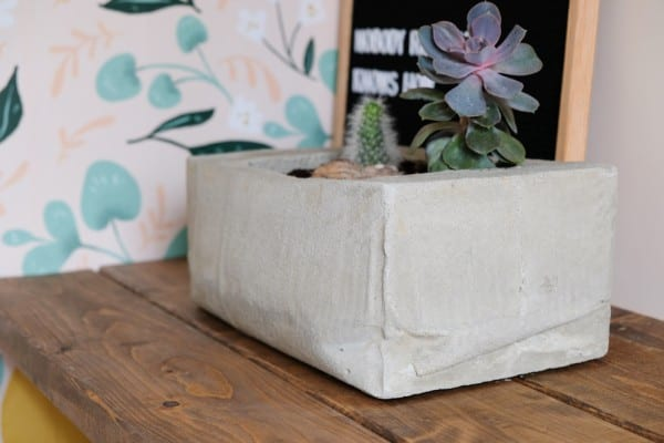 Remodelaholic Concrete Planter By The Leaerner Observer 10