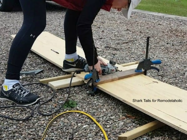 how to build a one sheet plywood storage box: cut the plywood without a table saw