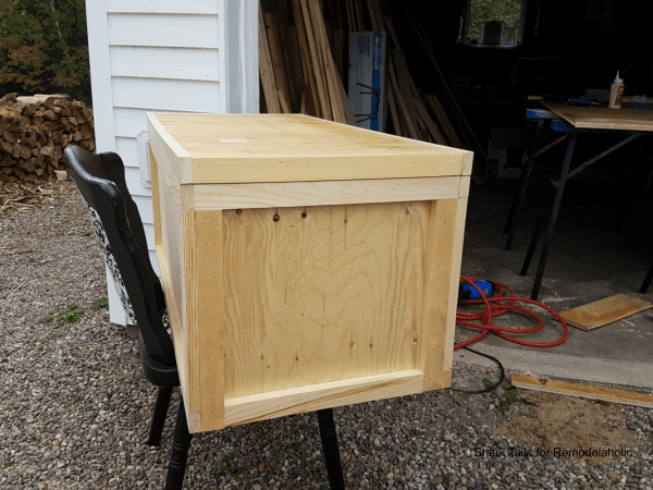 how to build a one sheet plywood storage box