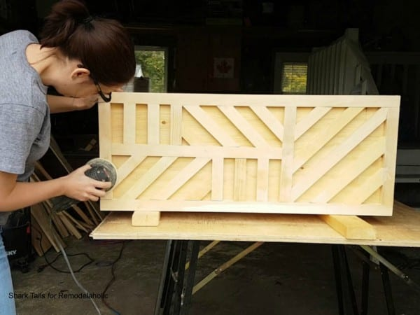 how to build a one sheet plywood storage box with lid, geometric inlay design