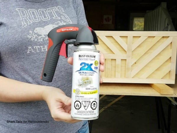 how to build a one sheet plywood storage box, spray paint