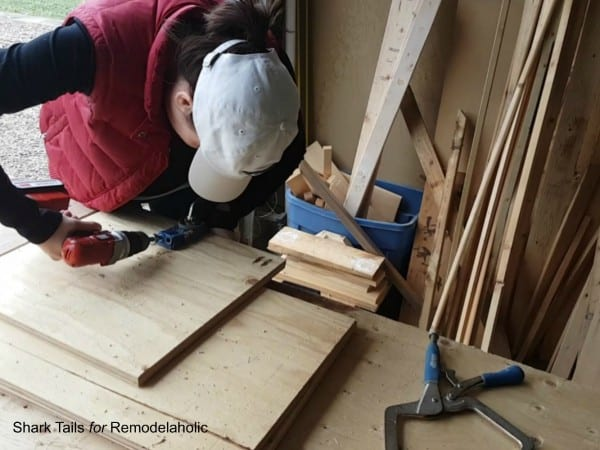 how to build a one sheet plywood storage box, kreg jig pocket holes to assemble box