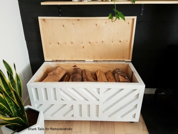 one sheet plywood storage box for firewood