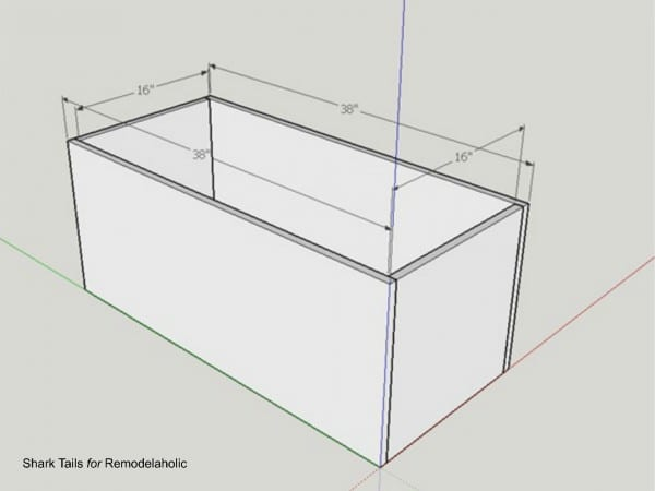 how to build a one sheet plywood storage box with lid, dimensions