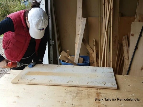 how to build a one sheet plywood storage box - attach bottom with pocket holes