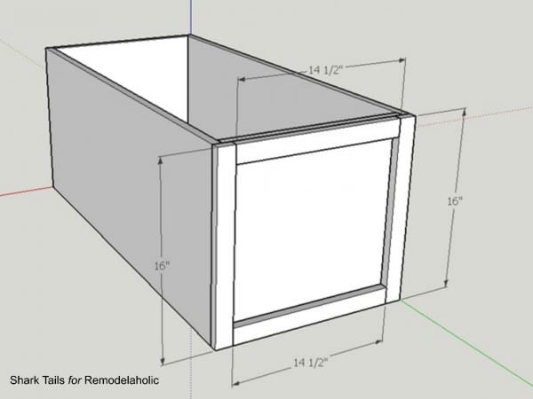 how to build a one sheet plywood storage box, add trim