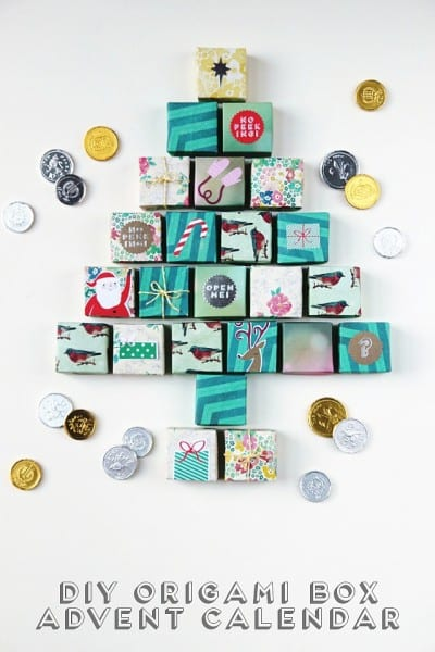 Diy Origami Box Advent Calendar Title