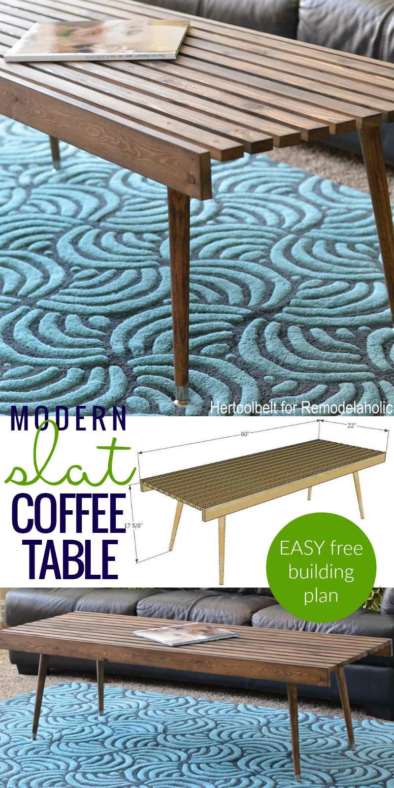 Albert Blog Diy Modern Slat Coffee Table Building Plan