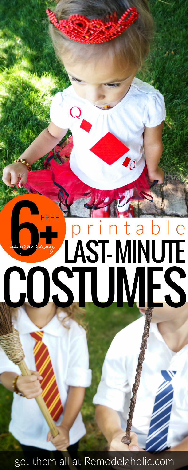 Free Printable Last Minute Costume Ideas @Remodelaholic