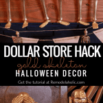 Gold Skeletons Dollar Store Hack Easy Inexpensive Quirky Halloween Decor @Remodelaholic