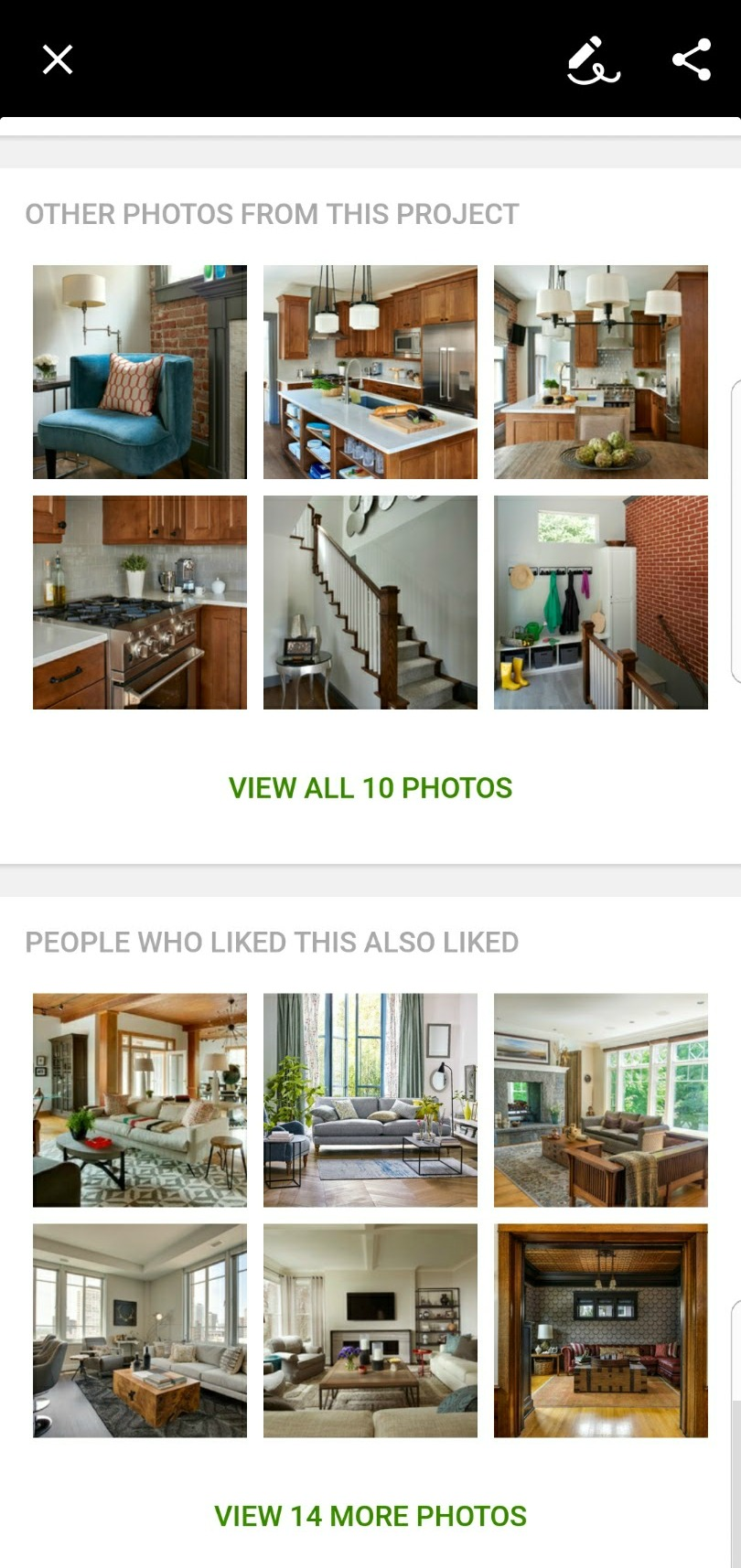 Houzz Home Inspiration Screenshot