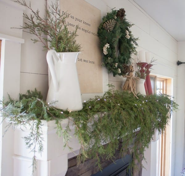 How To Style A Farmhouse Christmas Mantel (3 Of 15)