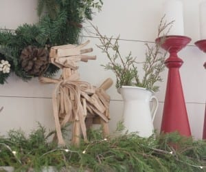 How To Style A Farmhouse Christmas Mantel (4 Of 15)