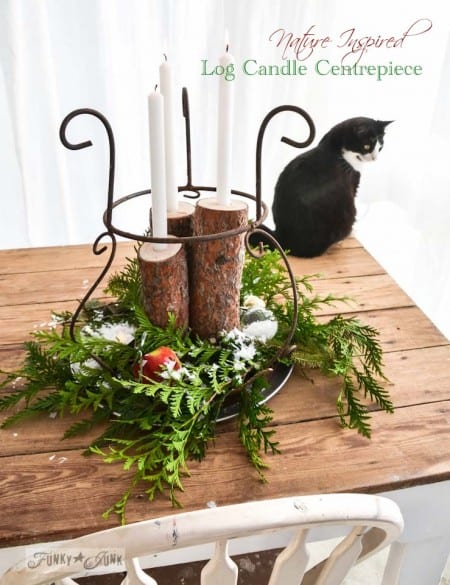 Log Centerpiece 04291