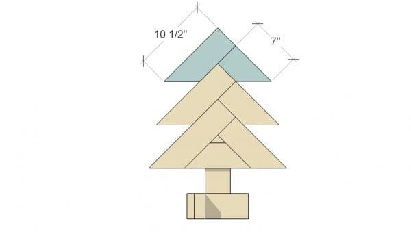 Remodelaholic Herringbone Tree Assemble Herringbone 4