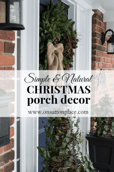 Simple Natural Christmas Porch Decor