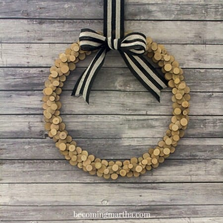 Wood Slice Wreath 5