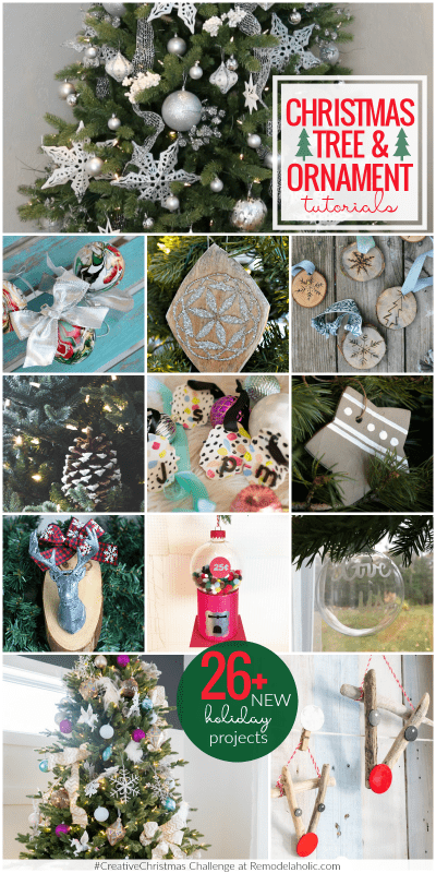 It's a Creative Christmas at Remodelaholic! Make your own Christmas tree ornaments, Christmas gifts, and Christmas decor with these new tutorials