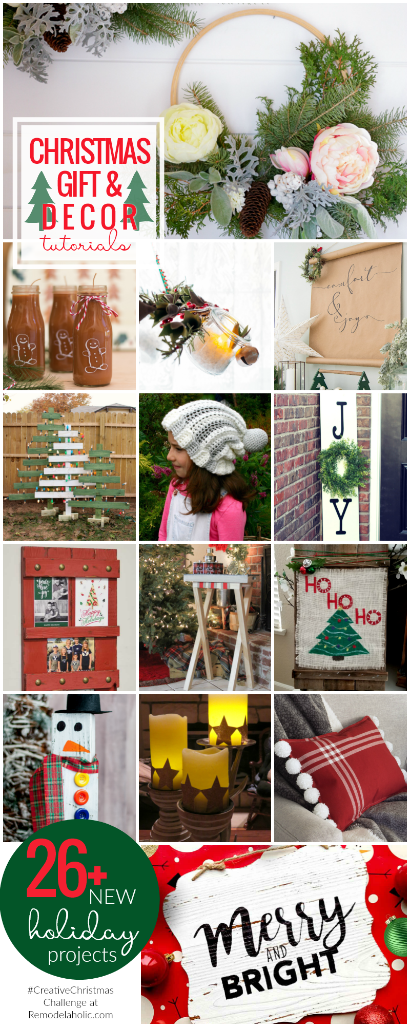 Creative Christmas Gifts And Decor! 26+ New holiday projects featured on Remodelaholic.com