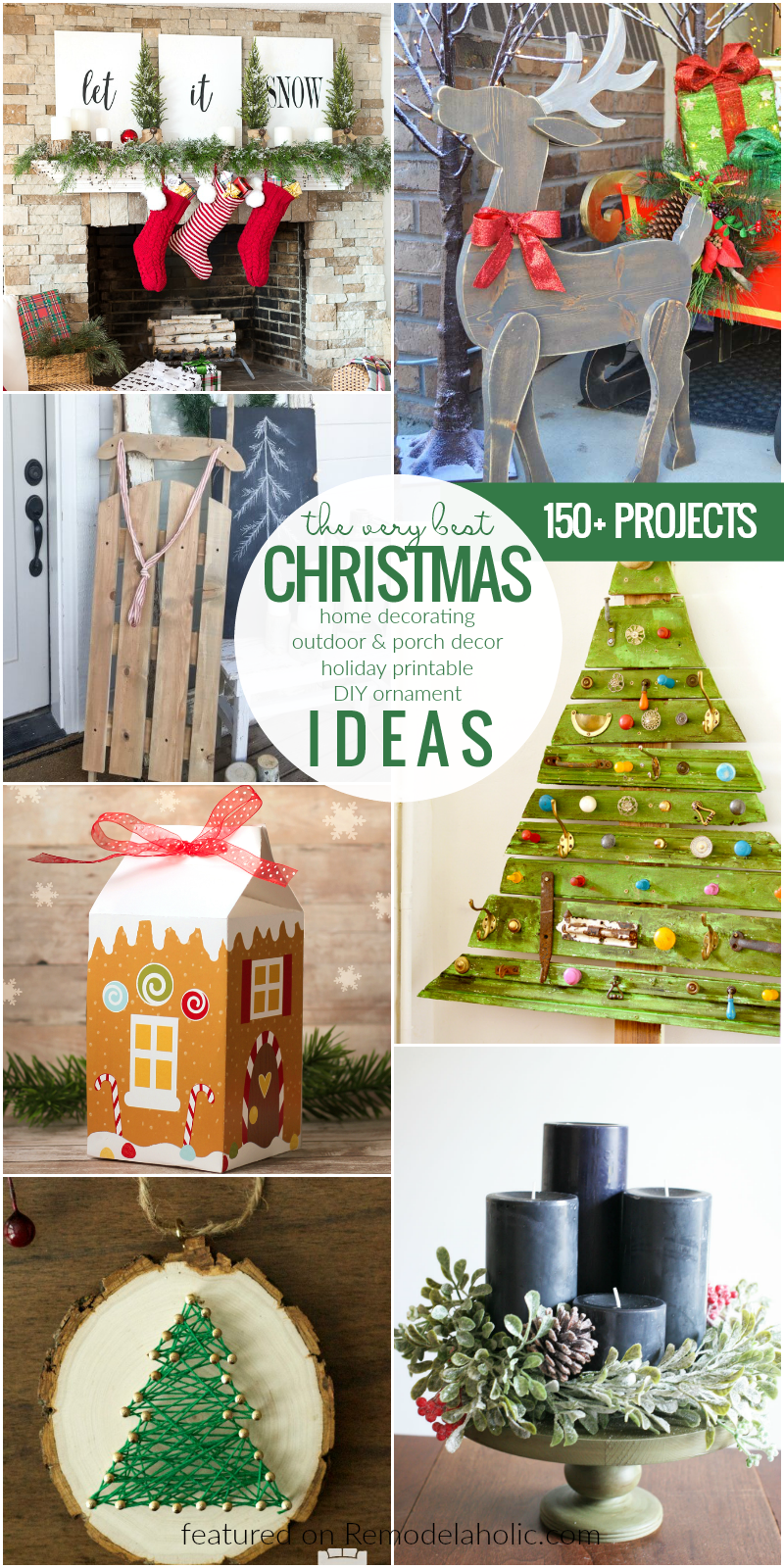 Remodelaholic | 150+ Christmas Ideas: Decorations ...