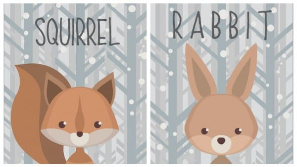 Adorable For Gift Tags And So Much More With These Winter Wildlife Creatures Printables Via Remodelaholic.com