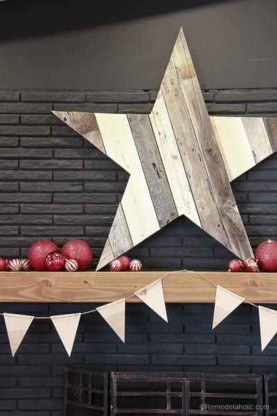 Remodelaholic How To Build A Large Rustic Wood Star From
