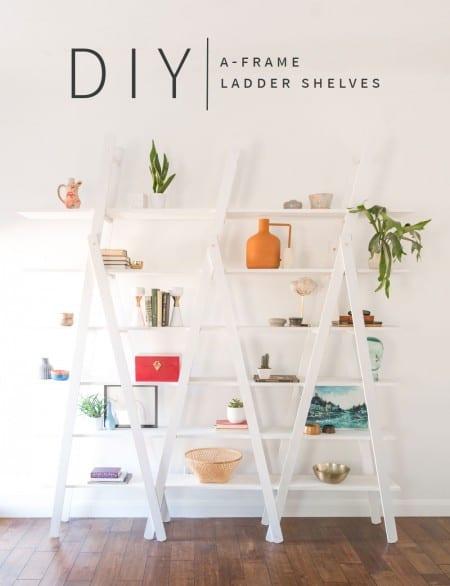 DIY A Frame Ladder Shelves Vintage Revivals
