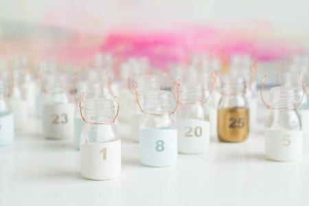 DIY Paint Dipped Advent Calendar Bottles Fall For DIY 5