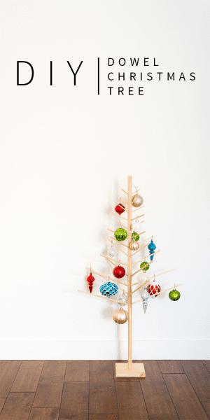 DIY Wooden Dowel Christmas Tree Vintagerevivals.com