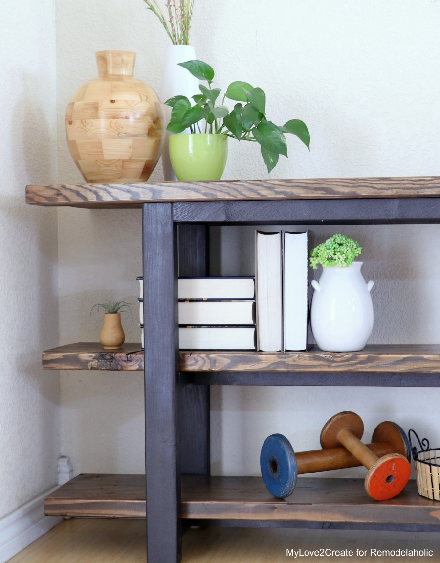 Remodelaholic pottery barn inspired modern rustic console table diy modern rustic console table easy console table tutorial mylove2create geotapseo Choice Image