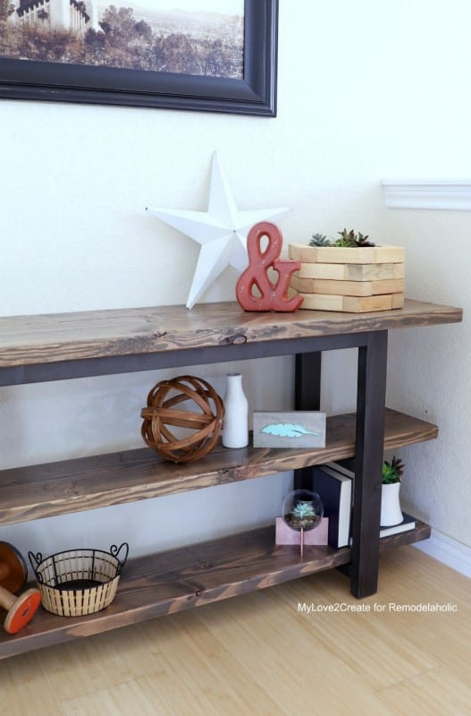 DIY Modern Rustic Console Table, Easy Diy Console Table, MyLove2Create