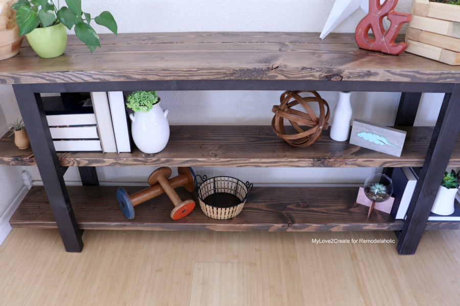 Diy Modern Rustic Console Table Make Your Own Pottery Barn Inspired Mylove2create