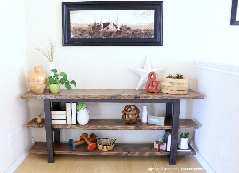 Featured Image Pottery Barn Inspired Modern Rustic Console Table Mylove2create