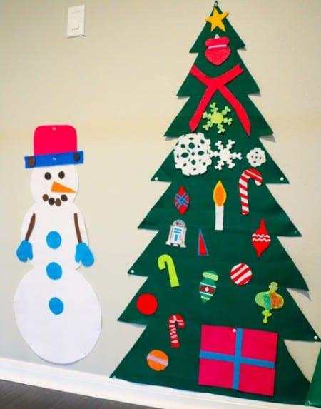 Felt Trees Snowman 1