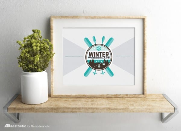 Free Printable Graphic Winter AD Aesthetic For Remodelaholic Horizontal