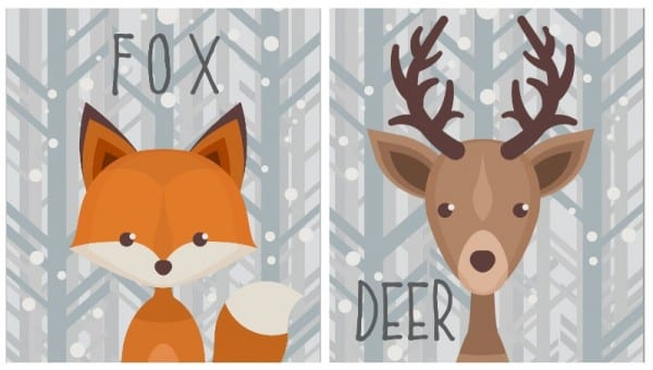 Fun Wildlife Creatures Printables For Winter. Free Printable Via Remodelaholic.com