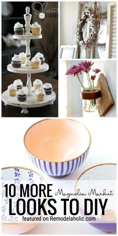 Get The DIY Magnolia Market Fixer Upper Look. 10 More Magnolia Market Looks To DIY Featured On Remodelaholic.com