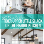 Go For An Industrial Farmhouse Vibe By Recreating This Look In Your Kitchen Using Inspiration From The Fixer Upper Little Shack On The Prairie Kitchen Featured On Remodelaholic.com
